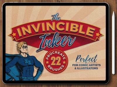 The Invincible Inker for Procreate procreate brushes procreate brush design texture flourish creative digital art painting paint brush set brushes brush procreate ink brushes procreate ink brush procreate ink procreate ink brushes ink brush ink inker
