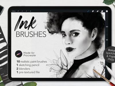 Ultimate Ink Brushes • Procreate digital art illustration graphic design design painting brush ink drawing painting brushes paint brush drawing painting paint brushes brush procreate brushes procreate brush procreate ink procreate ink brushes ink brush ink