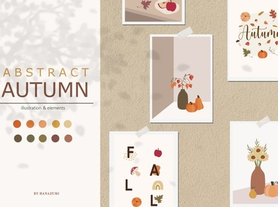 Abstract Autumn Collections art clipart illustrator esp ai project background vector illustration design graphic elements graphic design graphics graphic collection autumn abstract autumn shapes shape abstract