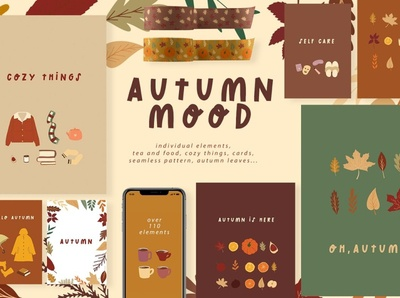 Autumn Mood art set food art clipart background vector moodboard illustration graphic elements elements room design design mood art set mood art mood autumn party autumn collection autumn flyer autumn leaves autumn mood autumn
