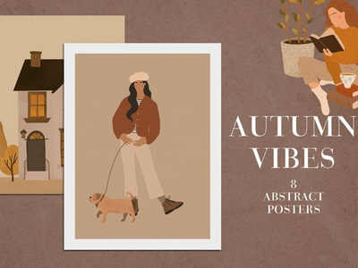 Autumn Vibes Abstract Posters background poster a day poster art website art concept illustration development banners banner blog design shapes shape abstract posters posters poster abstract vibes autumn