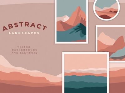 Abstract landscapes art illustrations graphic design illustration design stylish simple wallpaper minimal creative new graphic elements elements background vector landscapes landscape abstract landscapes abstract landscape abstract