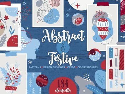 Abstract & Festive Kit poster flowers colour color design elements floral background vector illustration design abstract design abstract art cards card greeting card patterns pattern seamless pattern festive abstract