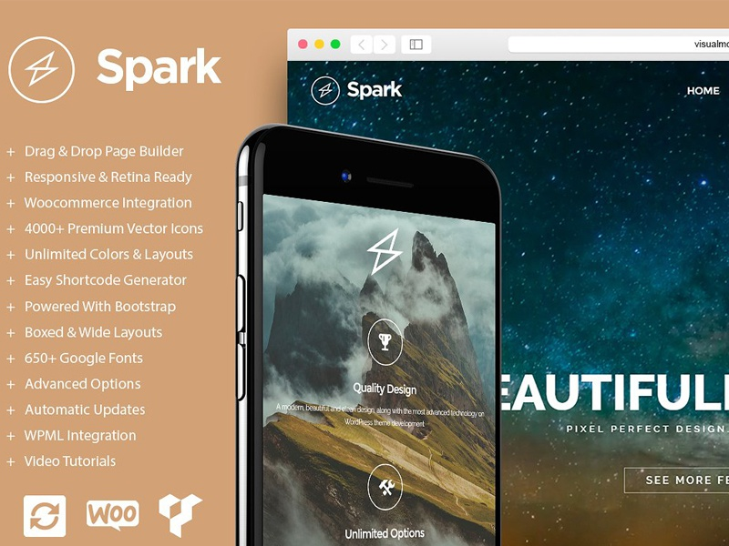 Spark - Drag & Drop WordPress Theme wordpress template theme wordpress site builder wordpress template e-commerce free wordpress theme wordpress theme free download free