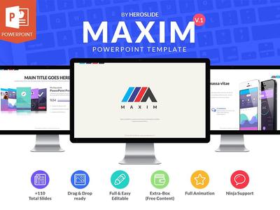 Maxim , Business Powerpoint Template