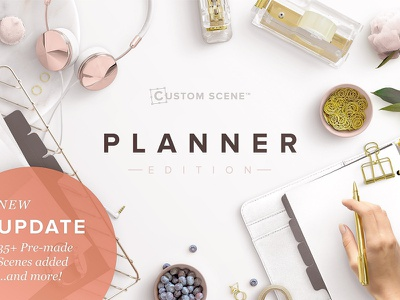Planner Edition - Custom Scene product mockups graphics graphic design custom scene planner edition styled stock photo mockup generator scene generator mockup