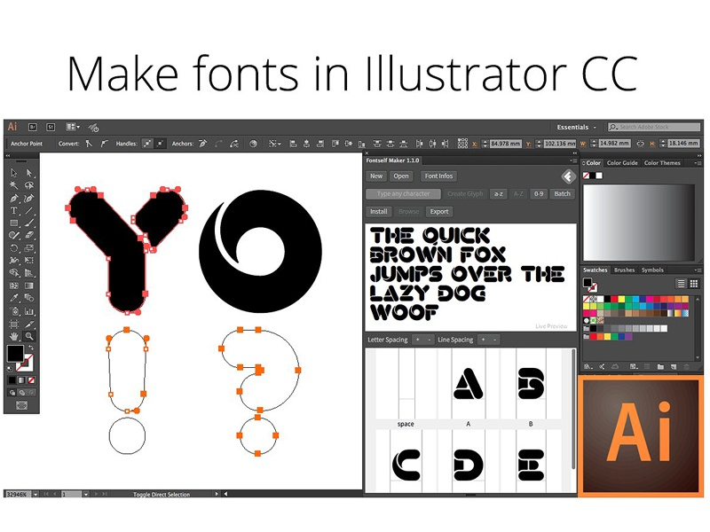 Fontself Make Fonts In Illustrator By Graphics Collection Dribbble