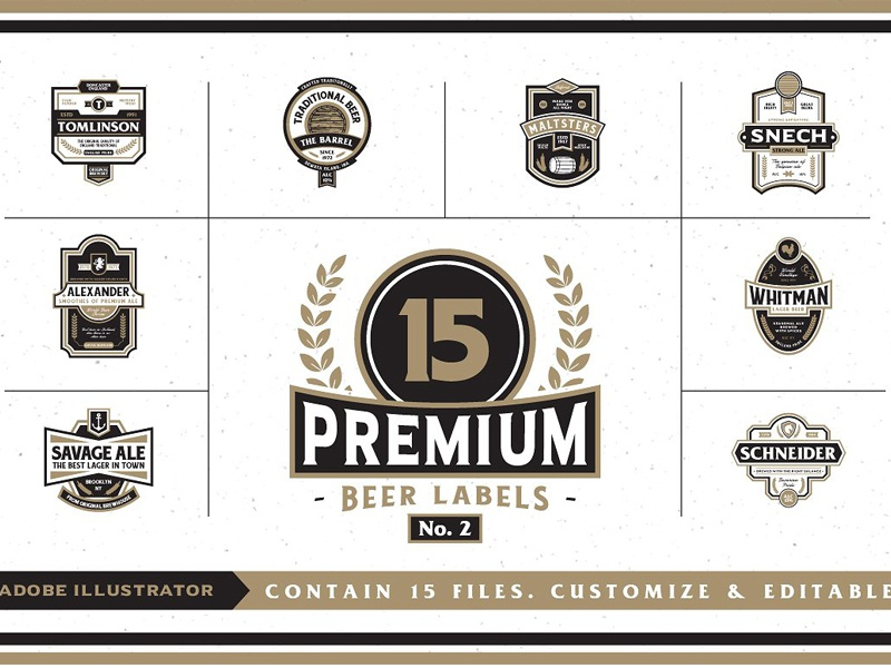 Beer Label Template Illustrator from cdn.dribbble.com