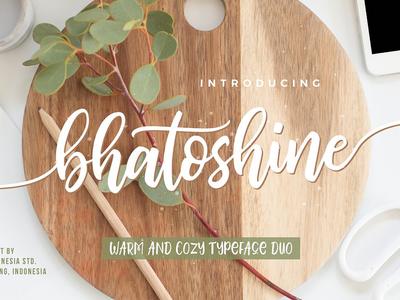 Bhatoshine - Fancy Font Duo