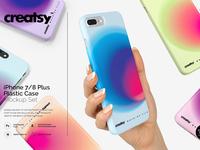 iPhone 7+ Plastic Case Mockup Set