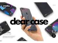 iPhone 7 Clear Case Mockup Set