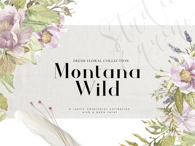 Montana Wild - A Rustic Floral Set
