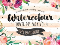 20%Off-Watercolor DIY pack Vol.4