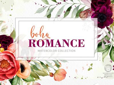 Boho Romance - Watercolor Collection