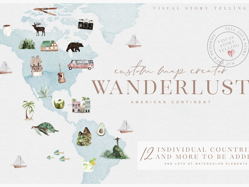 wanderlust custom map creator by graphics collection dribbble