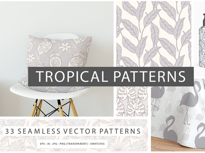 Tropical Seamless Vector Patterns tropical leaves tropical seamless patterns tropical patterns seamless vector patterns seamless patters vector patterns tropical patterns vector art sketch texture