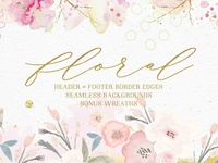 Floral Background Edges & Patterns
