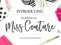 Miss Couture Brush Script + Bonus