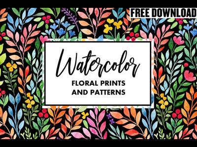 Free Download - Watercolor floral prints&patterns