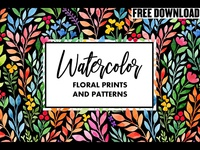 Free Download - Watercolor floral prints&patterns