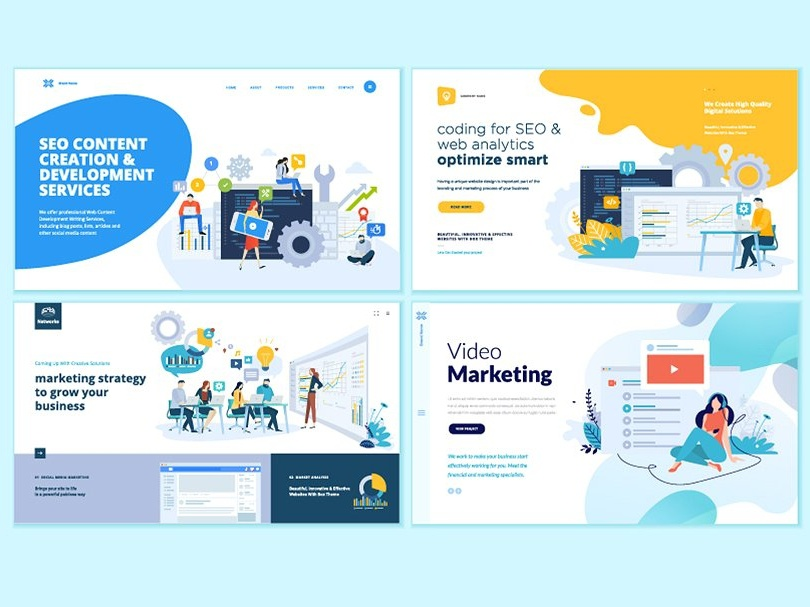 Set of web design templates by graphics collection dribbble download link httpscreativemarketpuresolution2892008 set of web design templatesukvarts maxwellsz