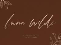 Luna Wilde Hand Lettered Font