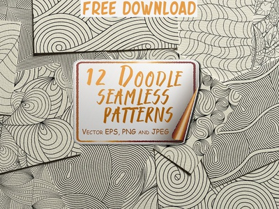 Doodle Seamless Patterns doodle pattern doodle patterns vector pattern set background design texture geometric print line art pattern vector patterns vector free downloads patterns doodle doodle seamless patterns seamless patterns free download free