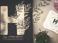 Greenery Monograms | Floral Alphabet