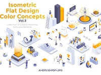 Modern isometric illustrations