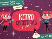 Retro Christmas Vector Pack