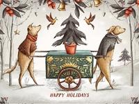 Vintage Holidays • Christmas Dogs