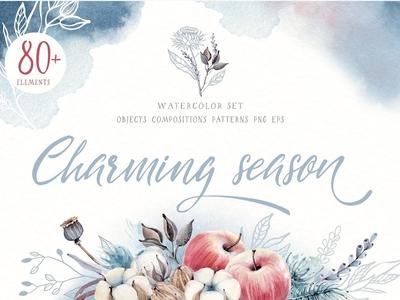 CHARMING SEASON Watercolor set