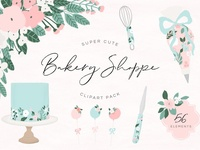 Cute Bakery Shoppe Clipart