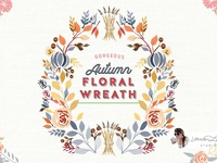 Autumn Floral Wreath Fall Decor - FREE Download