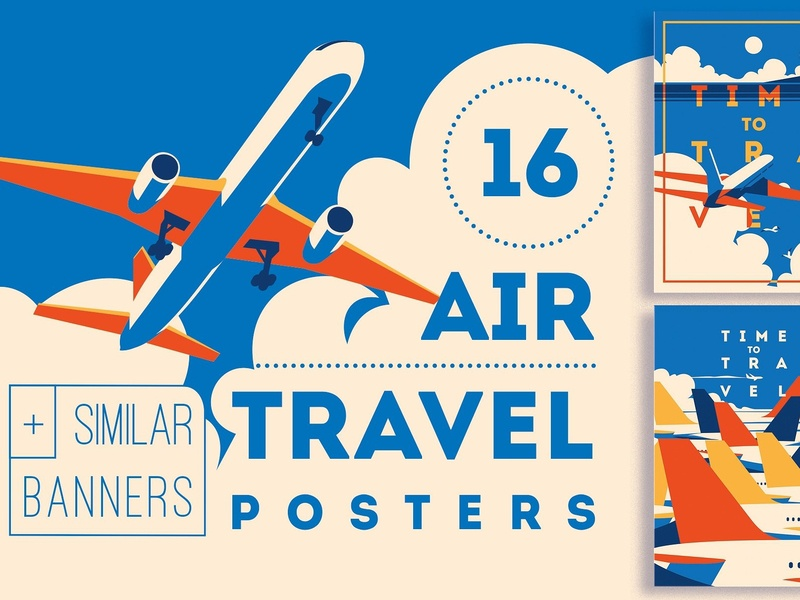 -50% 16 AirTravel Illustrations