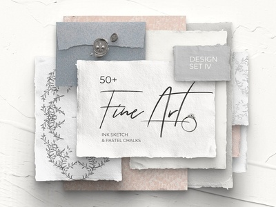 FINE ART IV modern design set pastel