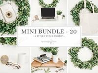 Free Premium Download - Greenery Wreath Mini Photo Bundle 20