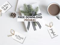 Free Premium Download - Christmas Printable Gift Tags 02