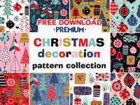 Free Premium Download - Christmas decorations pattern set