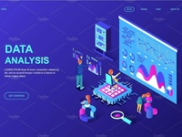 Isometric Landing Page Templates
