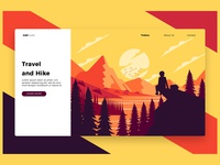 Travel Hike - Banner & Landing Page