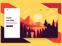Travel Hike - Banner & Landing Page