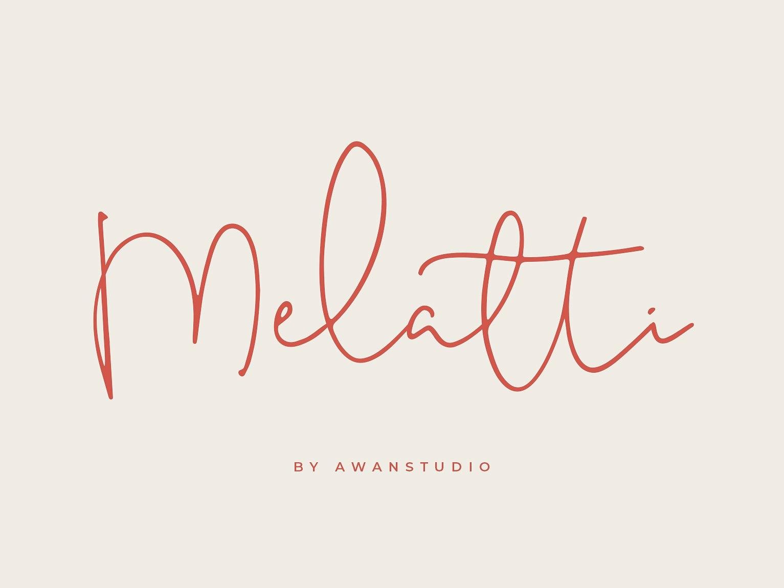 Melatti poster cursive fonts typography typeface lettering fonts handwriting fonts elegant fonts script font wedding font modern calligraphy hand lettering modern quotes branding logo font cursive monoline script