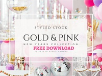 Free Premium Download - Pink New Years Party Stock Photos