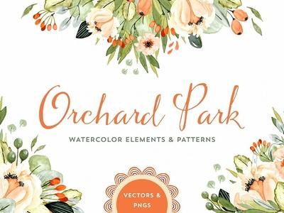 Orchard Park Watercolor Florals