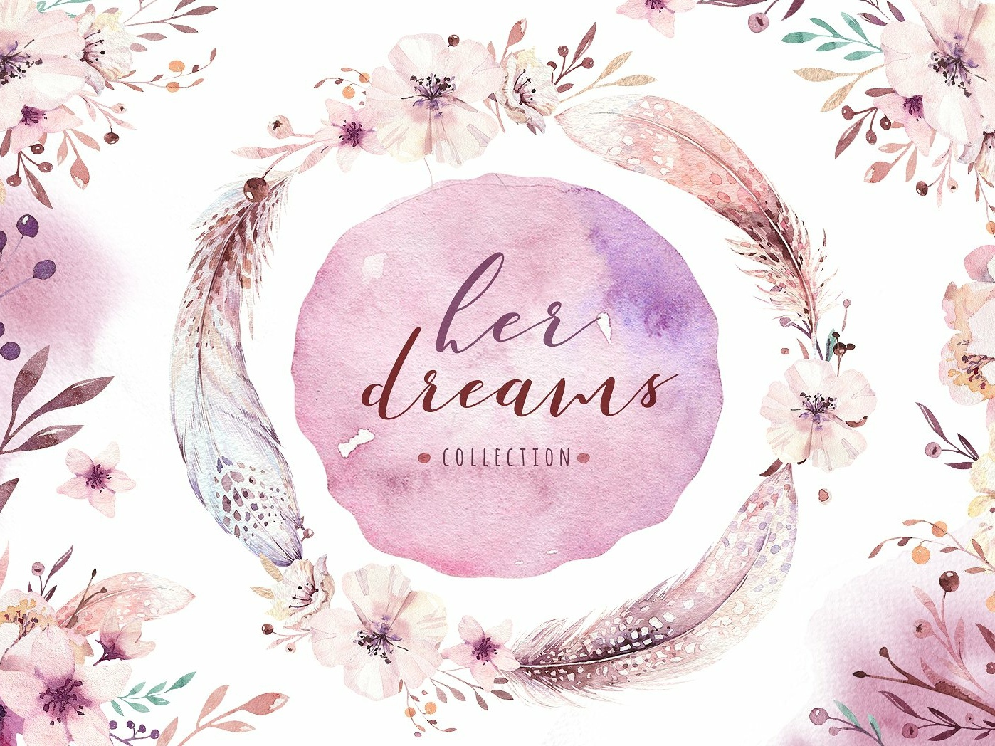 her dreams bohemian collection by graphics collection on dribbble her dreams bohemian collection by