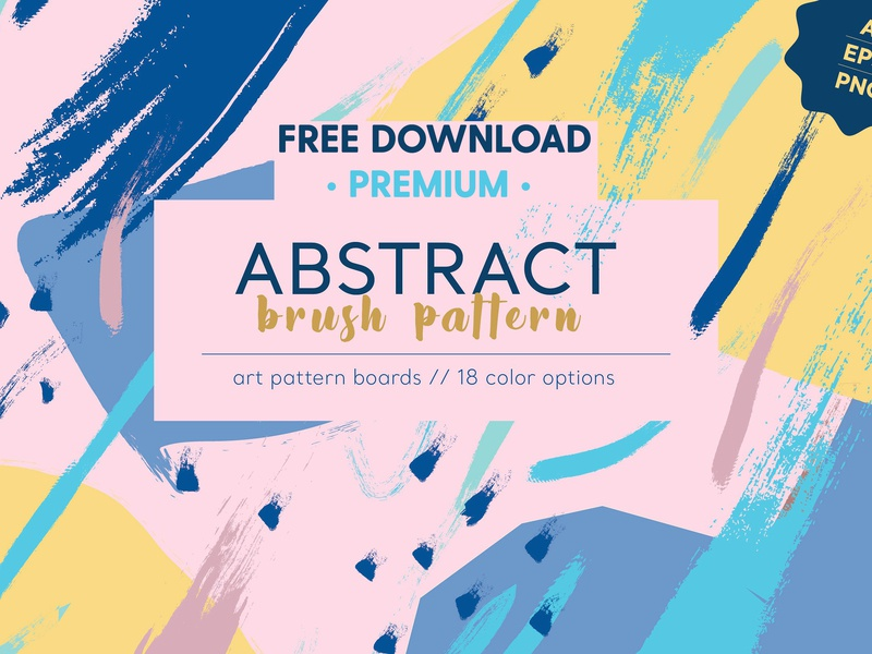 FREE Premium Download - Abstract Brush Pattern by Graphics
