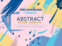 FREE Premium Download - Abstract Brush Pattern