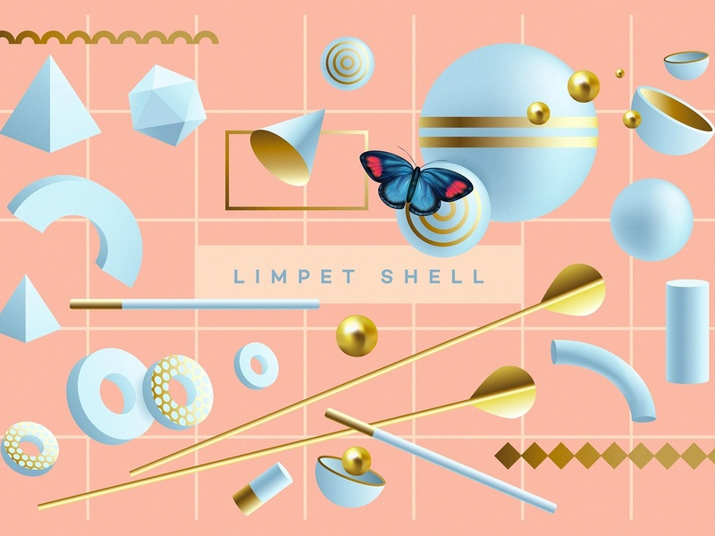 Illusion- 3D Geometric Objects 3d geometric objects illusion 3d geometric object 3d geometric 3d geometric objects geometric shapes seamless patterns branding design graphic design vectors modern golden spheres vector abstract colorful color bright
