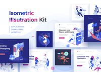 Isometric illustration kit - People